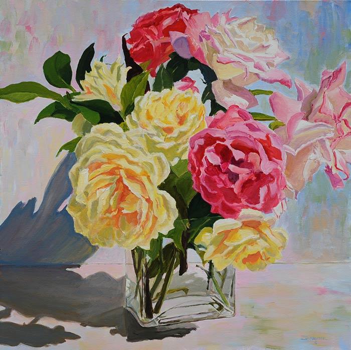 Roses in a Vase I