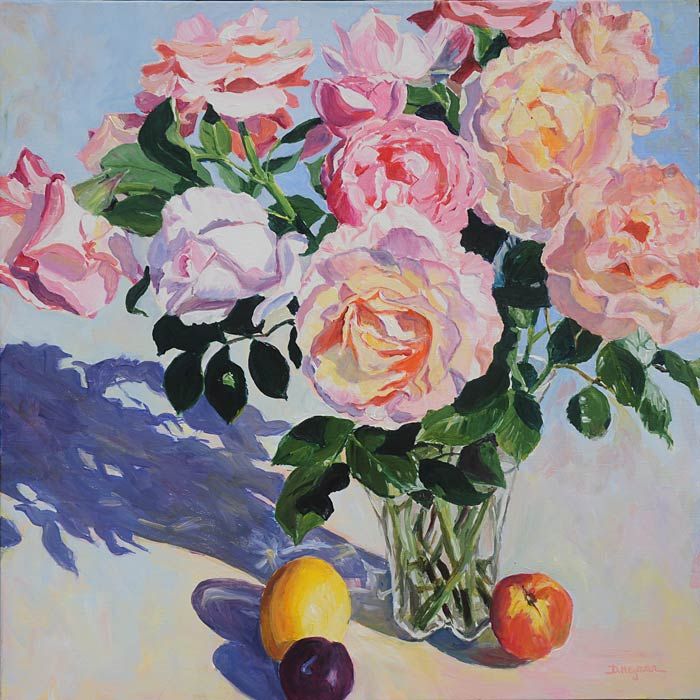 Roses in a Vase II  SOLD