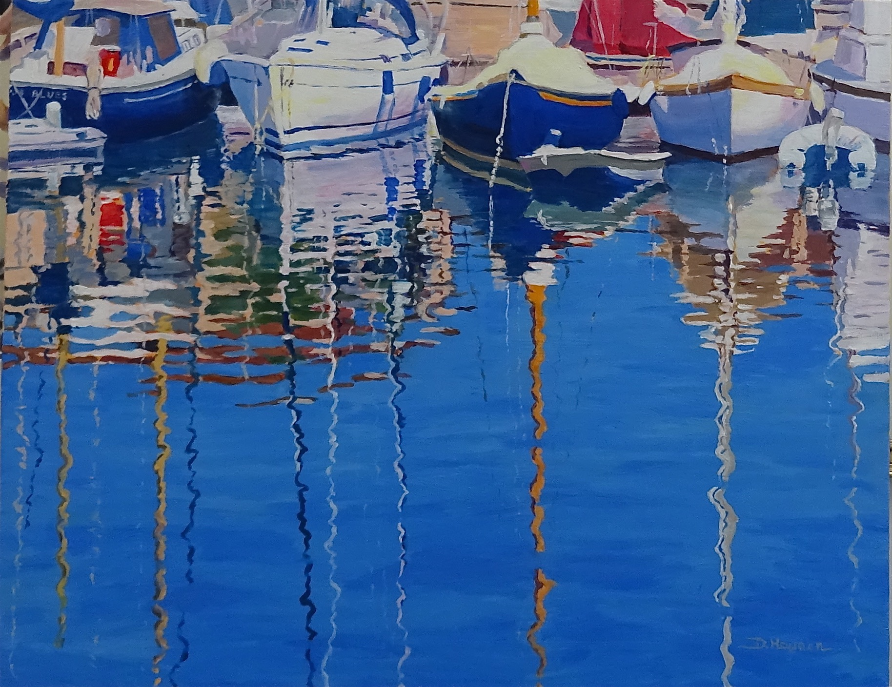 """# 1, Harbor Reflections I  - 24 x 30 """" - SOLD"""