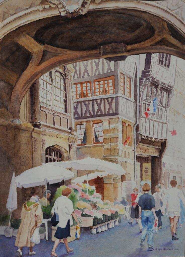 #7, Rouen - framed