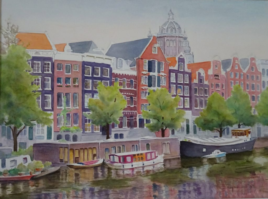#2, House Boats  in Amsterdam- framed