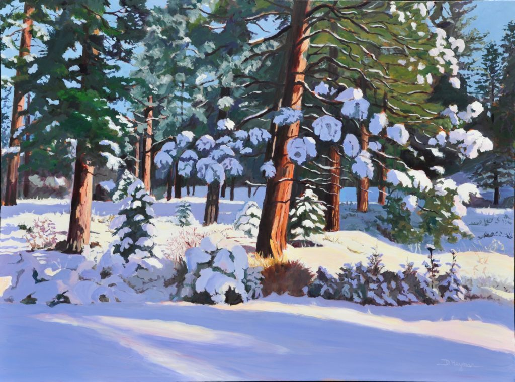 #3., Snow in the Forest, 36 x 48""